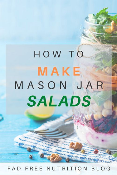 Pinterest Image for how to make jar salads