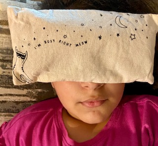 Lavender and Mugwort eye pillow Sleep Tight Essential oils from the Therabox reviews August 2020 box