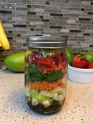Spinach and Balsamic Vinaigrette Jar Salad Recipe