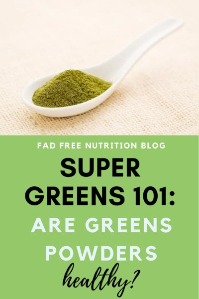 are greens powders healthy