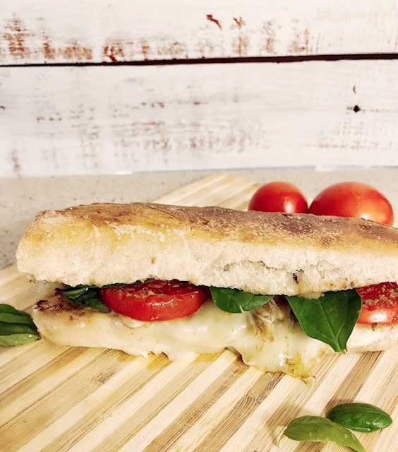 Caprese panini with pesto sandwich recipe