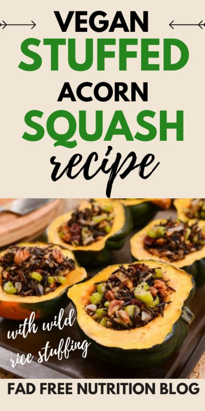 Vegan stuffed acorn squash recipe Pinterest