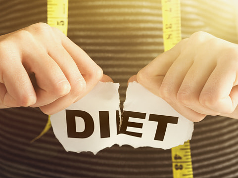How to stop dieting and eat normallu