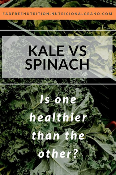 Pinterest image for the differences between kale and spinach