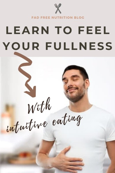 Learn to feel your fullness