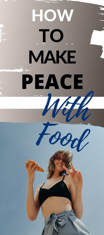 Making peace with food