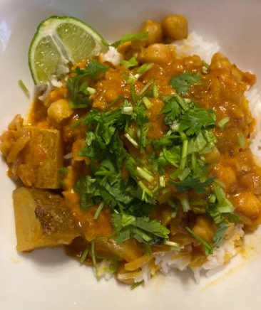 Chickpea and potato curry recipe