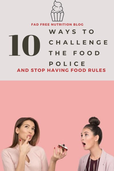 How to challenge the food police pin