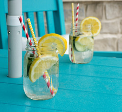 Cucumber and lemon infused water recipe
